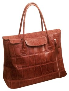 Kate Landry Leather Tote in Brown