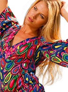 Rachel Lym Groovy Paisley Embellished Cover-Up Blouse NWT $120 S