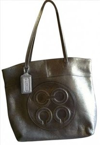 Coach Leather Shimmer Tote in Metallic