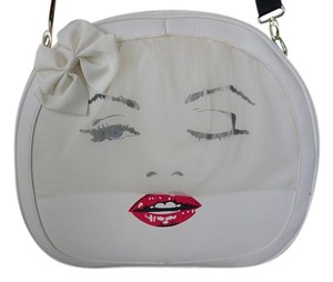 Betsey Johnson Marilyn Monroe Traincase Kiss Bone Travel Bag
