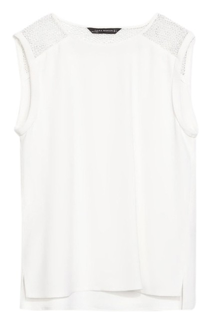 Preload https://img-static.tradesy.com/item/1793284/zara-white-sleeveless-blouse-size-12-l-0-0-650-650.jpg