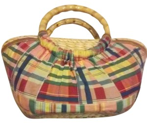 Caribbean Joe Cotton Bamboo Free Shipping Handmade New Tote in Multicolor