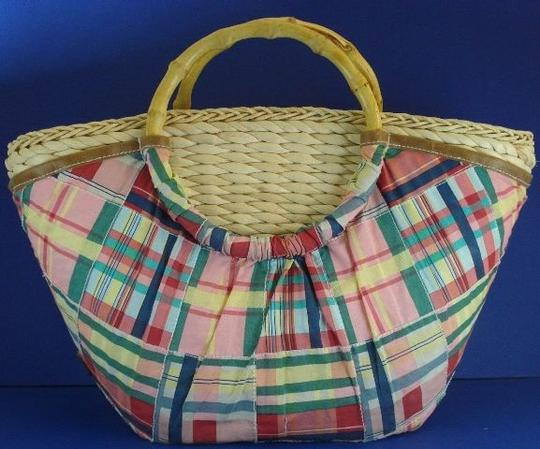 Caribbean Joe Cotton Bamboo Free Shipping Handmade New Tote in Multicolor Image 7