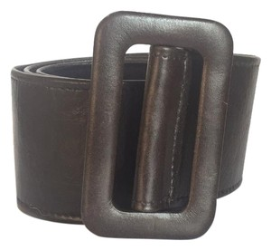 MILLY Wide Brown Leather Belt