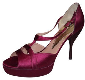 Emporio Armani Burgundy Pumps