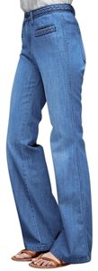 Gap 1969 Braid Denim Cotton Flare Leg Jeans-Medium Wash
