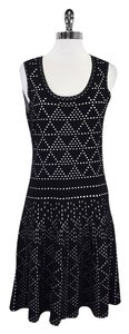 Nanette Lepore short dress Black White Cut Out Print on Tradesy