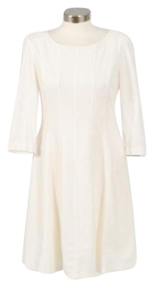 9cc5edeb47 Taylor Winter White Women Jacquared Multi Seamed Fit and Flare Work Office  Dress