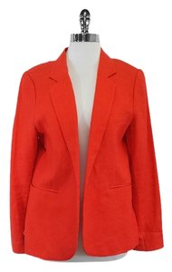 Joie Red Orange Linen Blazer