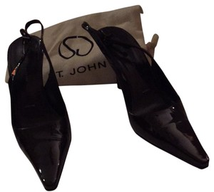 St. John Brown Patent Pumps