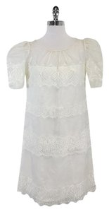 ALICE by Temperley short dress Ivory Short Sleeve Lace Lace on Tradesy