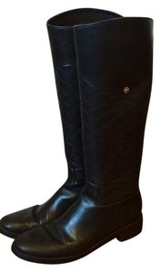 Tory Burch Quilted Black Boots
