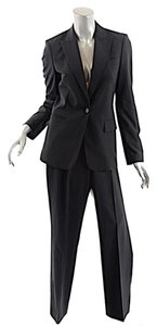 Hugo Boss BOSS Hugo Boss Black Wool Stretch Spring Weight Gaberdine Pantsuit