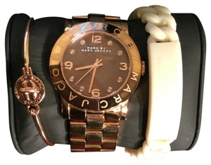 Marc Jacobs Watch, Gold Bracelet & Rubber Bracelet