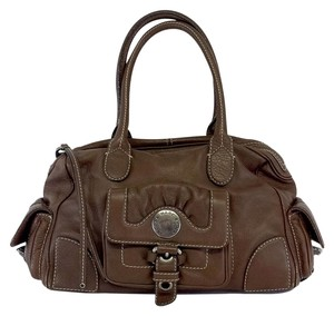 Marc by Marc Jacobs Brown Leather Cargo Pocket Hobo Bag