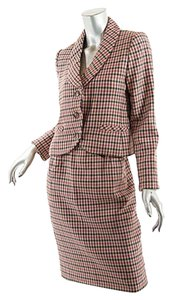 Bill Blass BILL BLASS Vintage Cashmere Plaid/Check Skirt Suit