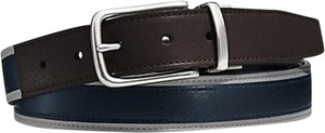 Coach COACH MENS HERITAGE LEATHER SPORT CUT TO SIZE REVERSIBLE BELT