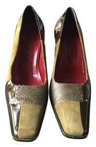 Fratelli Rossetti Vintage Olive Color Block Pumps