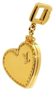 Louis Vuitton Louis Vuitton Heart Locket Gold Charm Pendant