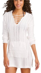 Tommy Bahama Textured Lace-Up Beach Sweater