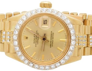 Rolex Ladies 18k Yellow Gold Rolex Datejust Presidential Diamond Watch 6.5Ct