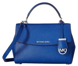 MICHAEL Michael Kors Ava Small 889154885882 Satchel in electric blue