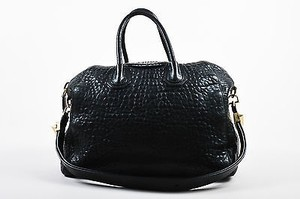 Givenchy Pebbled Leather Antigona Satchel in Black