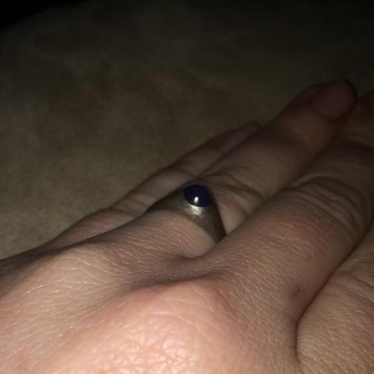 Unknown Sterling Silver And Sapphire Ring Size 6