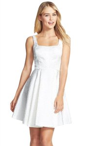 Jill Stuart Jacquard Bridal Fit And Flare Sleeveless Dress