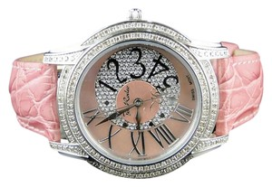 Joe Rodeo Ladies Joe Rodeokc Jojo Beverly Pink 152 Diamond Watch 1.35ct Jbly3