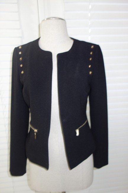 Other Sexy And Gold Gold Coat Jacket One Of A Kind Worn Once Black Blazer Image 1