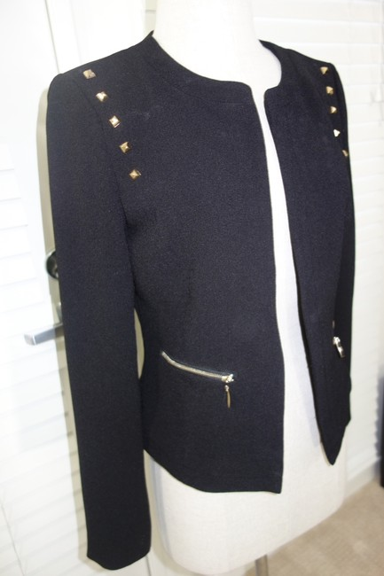 Other Sexy And Gold Gold Coat Jacket One Of A Kind Worn Once Black Blazer Image 2