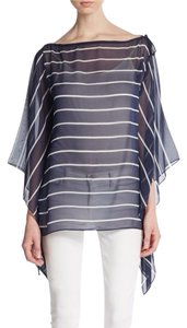St. John St Tunic Silk Designer Top Blue
