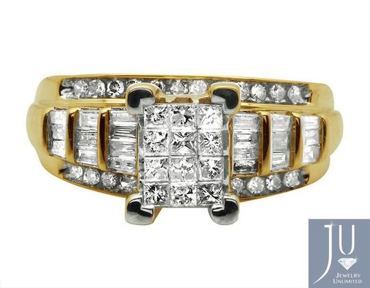 Other 10k Yellow Gold Princess Cut Genuine Diamond Engagement Ring 7/8ct Image 1