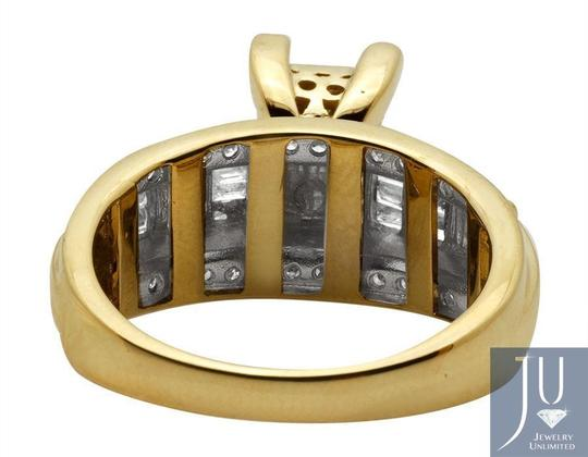 Other 10k Yellow Gold Princess Cut Genuine Diamond Engagement Ring 7/8ct Image 2