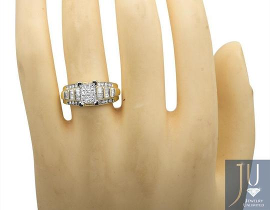 Other 10k Yellow Gold Princess Cut Genuine Diamond Engagement Ring 7/8ct Image 4
