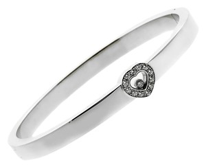 Chopard Chopard Happy Diamond Heart White Gold Bangle
