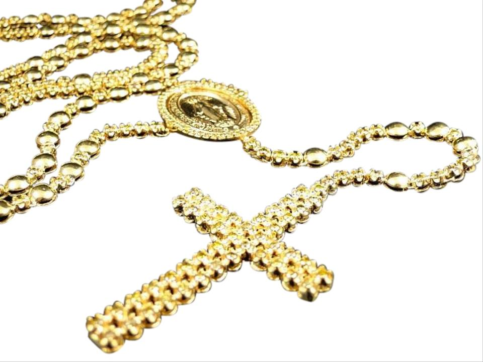 511472beac118 Mens 10k Yellow Gold Rosary Canary Diamond Chain 10.0 Ct Necklace 71% off  retail
