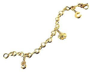 Chanel Chanel Diamond Gold Charm Bracelet