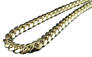 Other Solid 10k Yellow Gold Miami Cuban Chain Heavy Link Necklace 26 Inches