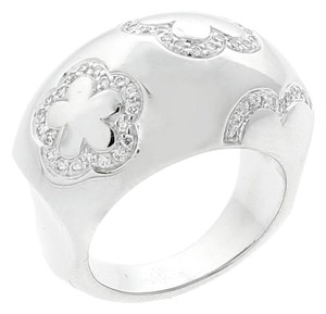 Chanel Chanel Camellia Diamond Dome White Gold Ring
