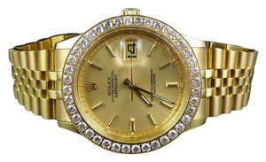 Rolex Mens Stainless Steel Rolex Datejust Jubilee 36MM Diamond Watch 3 Ct