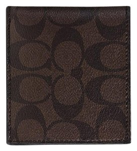 Coach Coach Signature Coin Wallet in Mahogany Brown Billfold F74993