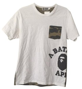 A Bathing Ape T Shirt White, Green