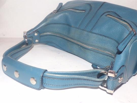 Tod's Exterior Pockets Great Color Mint Vintage Chrome Hardware Medium/Large Size Satchel in Robin's egg blue Image 1
