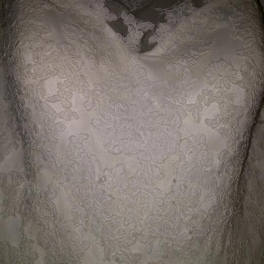 Pronovias Ivory Lace and Tulle Traditional Wedding Dress Size 10 (M) Image 10