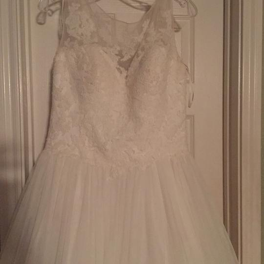 Pronovias Ivory Lace and Tulle Traditional Wedding Dress Size 10 (M) Image 5