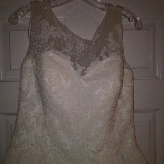 Pronovias Ivory Lace and Tulle Traditional Wedding Dress Size 10 (M) Image 9