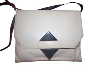 Fendi Two-way Style Clutch/Cross Xl Envelope Style Avant Garde Style Dressy Or Casual Cross Body Bag