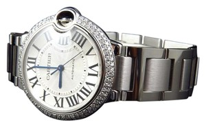 Cartier Mid Size Cartier Ballon Bleu W6920046 Automatic Diamond Watch 2.5 Ct